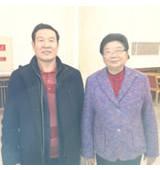 李大中与全国人大常委会副委员长顾秀莲在一起